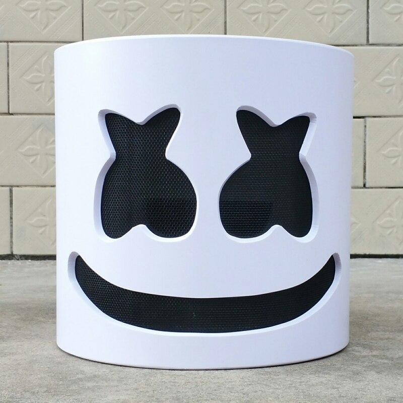 NEW Mask Marshmallow Helmet MarshmallowDJ Mask Face Hat Music Fans Concert Props Helm High Quality PVC