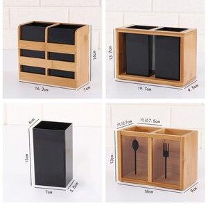 Image 4 - 1 шт., бамбуковый органайзер для сушки столовых приборов