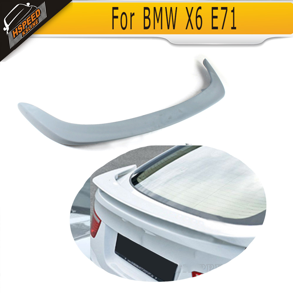 PU Unpainted rear trunk Boot Lip Spoiler For BMW X6 E71 HM Style 2008-2013PU Unpainted rear trunk Boot Lip Spoiler For BMW X6 E71 HM Style 2008-2013
