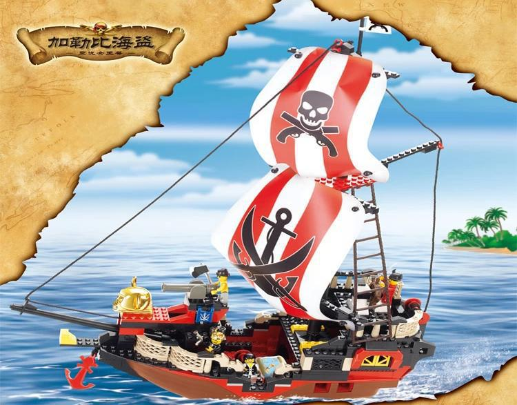 Sluban model building kits compatible with lego city pirate 784 3D blocks Educational model & building toys hobbies for children lepin 02012 city deepwater exploration vessel 60095 building blocks policeman toys children compatible with lego gift kid sets