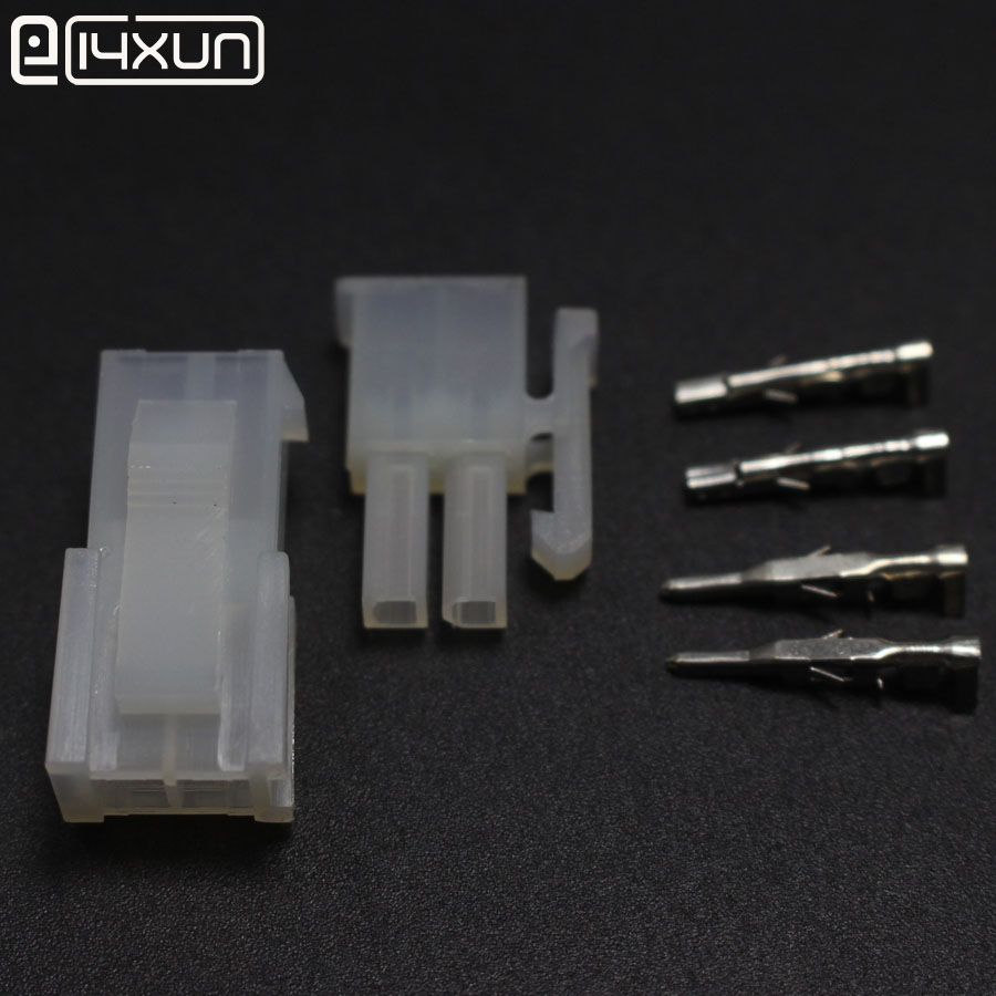 100sets <font><b>4.2mm</b></font> <font><b>5557</b></font>/5559-2P Automotive Wiring Harness Connector <font><b>5557</b></font>/5559 1X2Pin Male Plug and Female Socket Kit for Auto ect. image