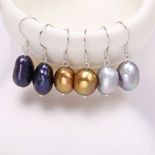 DAIMI Natural Freshwater Pearl 925 Silver French Hook Dangle Earrings