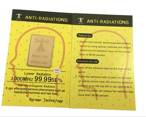 Factory Wholesale Gold EMF Mobile Phone Anti Radiation Sticker Anti Radiation Chip  Scalar Shield Energy Sticker 10pcslot