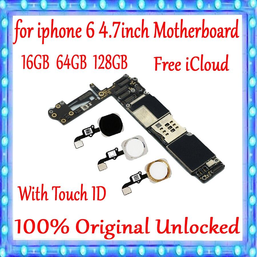 100% oryginalny odblokowany dla iphone 6 4.7 cal płyta główna z Touch ID/bez Touch ID dla iphone 6 płyta 16gb 64gb 128g w Anteny do telefonów komórkowych od Telefony komórkowe i telekomunikacja na AliExpress - 11.11_Double 11Singles' Day 1