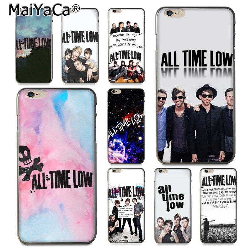 MaiYaCa All Time Low BAND Novelty Fundas Soft Phone Case Cover for iPhone 8 7 6 6S Plus X 10 5 5S SE 5C Coque Shell