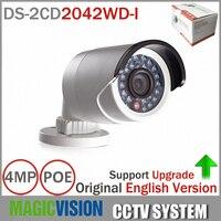 Original DS 2CD2042WD I Full HD 4MP High resolution 120db WDR POE IR IP Bullet Network CCTV Camera English Version
