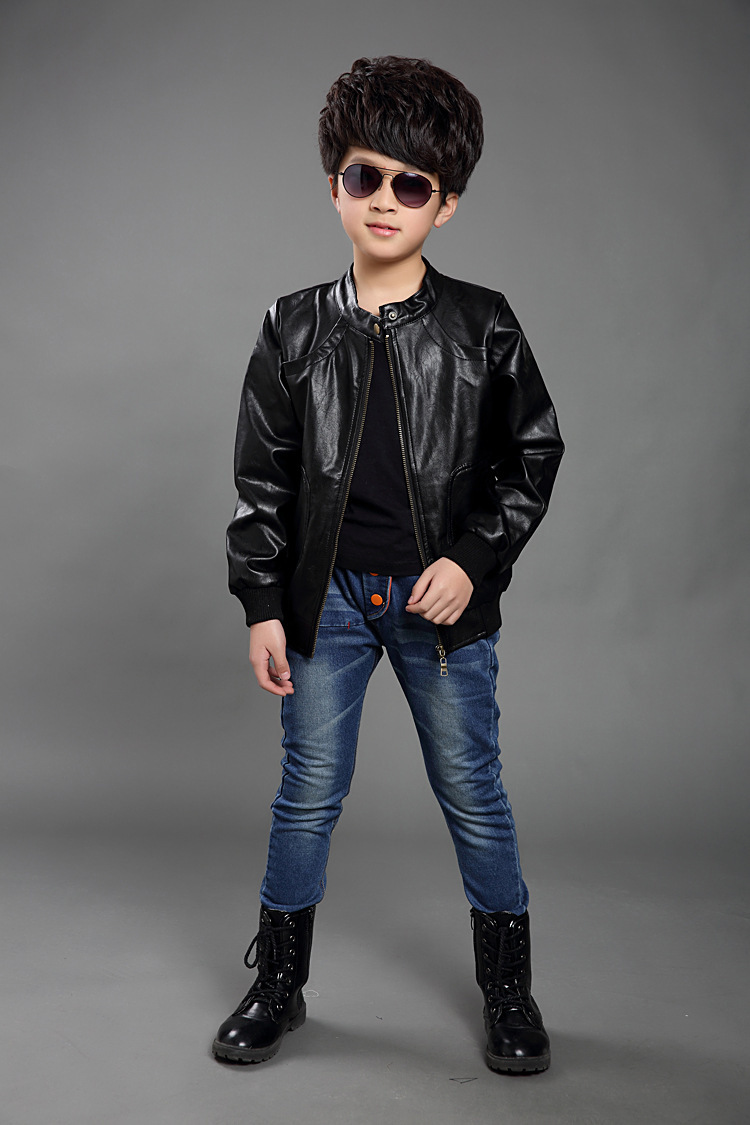 Leather jacket boy - Aliexpress Com Buy New 2016 Boys Casual Jacket Long Sleeve High Quality Leather Jacket Baby Boy Spring Outwear Boy Leather Coat Free Shipping From