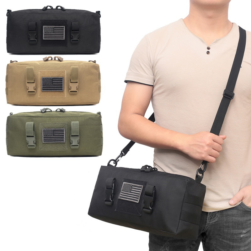 Tactical Pouch Multi-Purpose Waterproof Waist Bag Nylon Climbing Fitness Gym Bags Outdoor Sports Molle Pouch Camping Hiking Pack