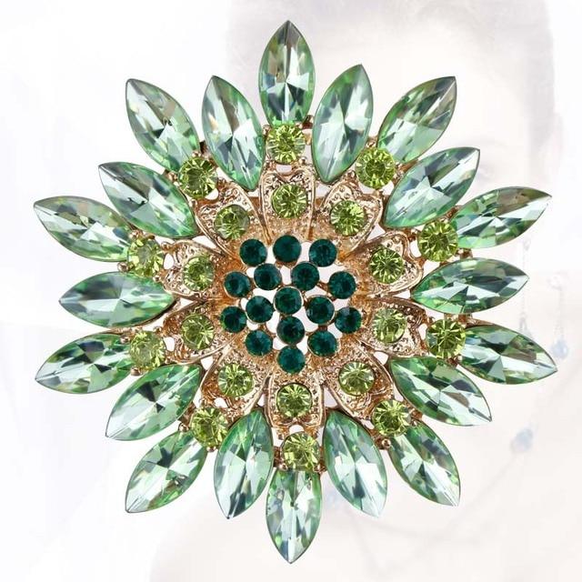 Красивый Кристалл Дэйзи Цветок Броши Бижутерия для Женщин в сортированный цвет