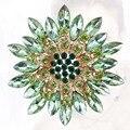 Pinos e Broches Moda Costume Jóias de Cristal bonito Da Flor Da Margarida para As Mulheres FRETE Grátis DHL Valor Da Ordem Mista $120 +
