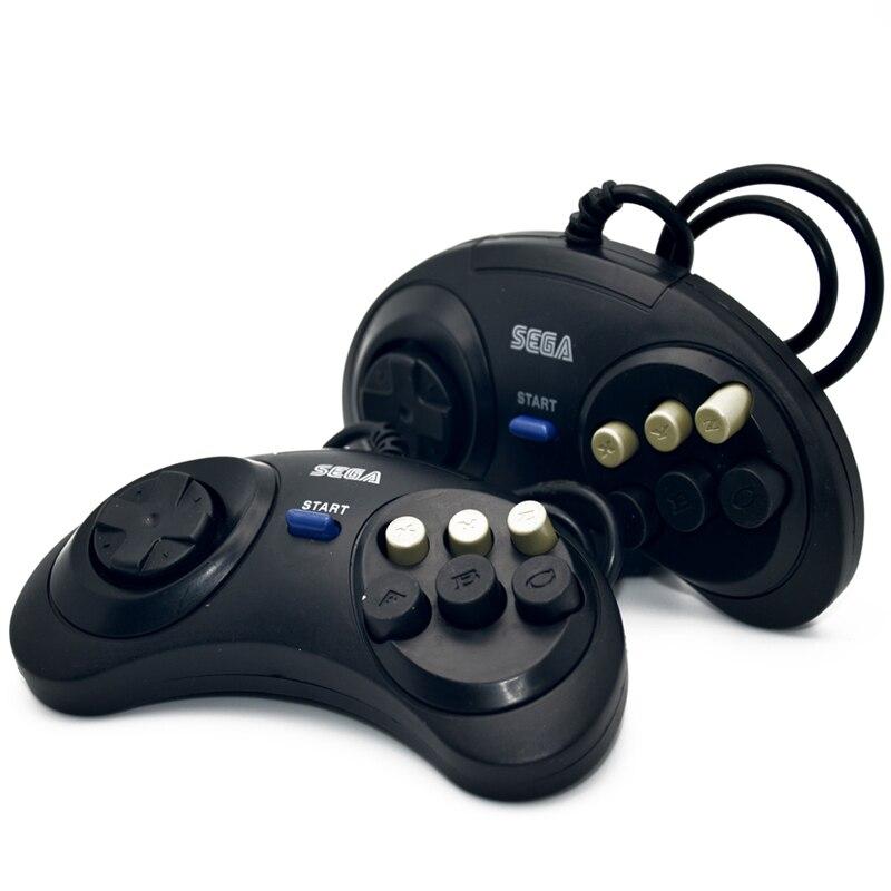 2 X Classique Filaire 6 Boutons Sega Bouton Contrôleur de Jeu Joypad pour SEGA Genesis/MD2 Y1301/PC/MAC Mega Drive Snes
