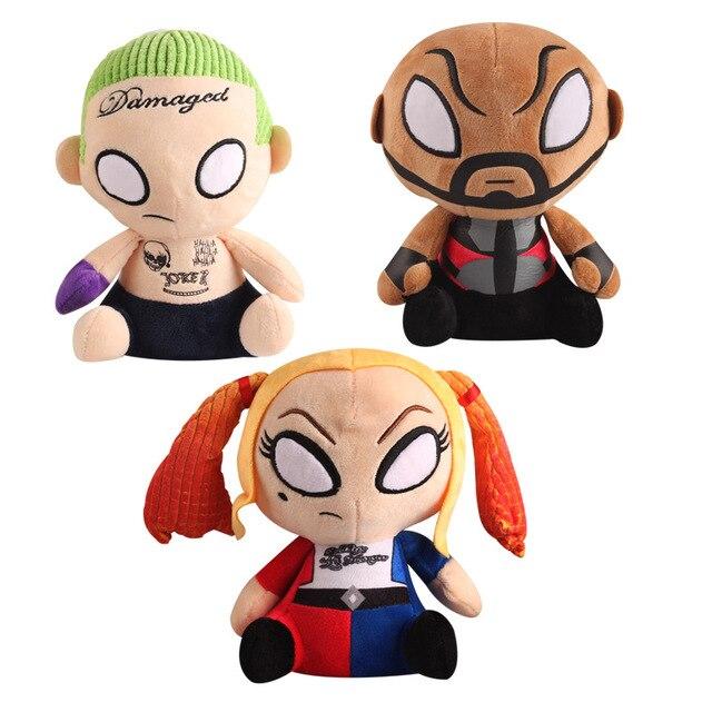 3 шт./лот Фильм Suicide Squad Харли Квинн Deadshot Джокер Плюшевые Игрушки Куклы