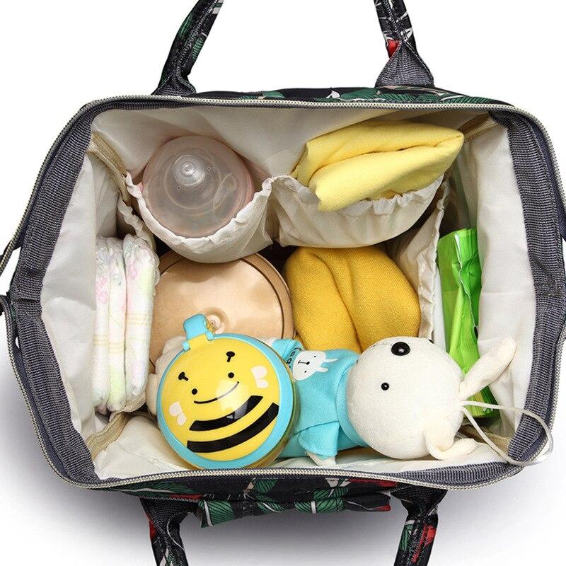 HTB1fTtXaRKw3KVjSZTEq6AuRpXaC Diaper bag backpack mommy bag Maternity large nappy bag Bolsa Maternida Printed Bebe baby bag Travel Backpack Baby Care wetbag