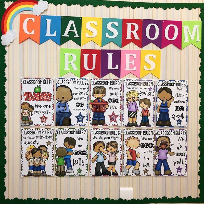 20Pcs/Set Learn English Children A4 Plastic Card Classroom ...
