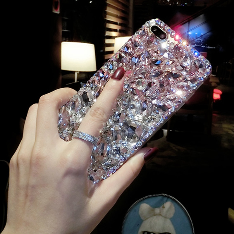 online store cb706 946e2 US $11.99 20% OFF|For Samsung Galaxy S9 Bling Diamond Case Rhinestone Stone  Jewelled Cover Case For Samsung Galaxy S9 Plus With Pearl Lanyard-in ...