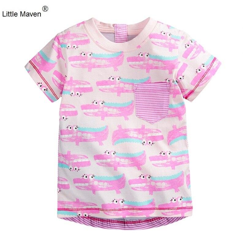Little maven 100 cotton girls t shirt short sleeve summer for Toddler t shirt printing