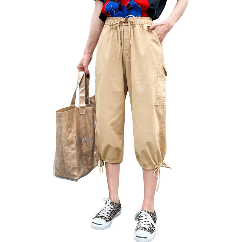 2019 Summer New Fahison Harem   Pants     Capris   Casual Calf-length   Pants   Female Plus Size Pocket Women   Pants