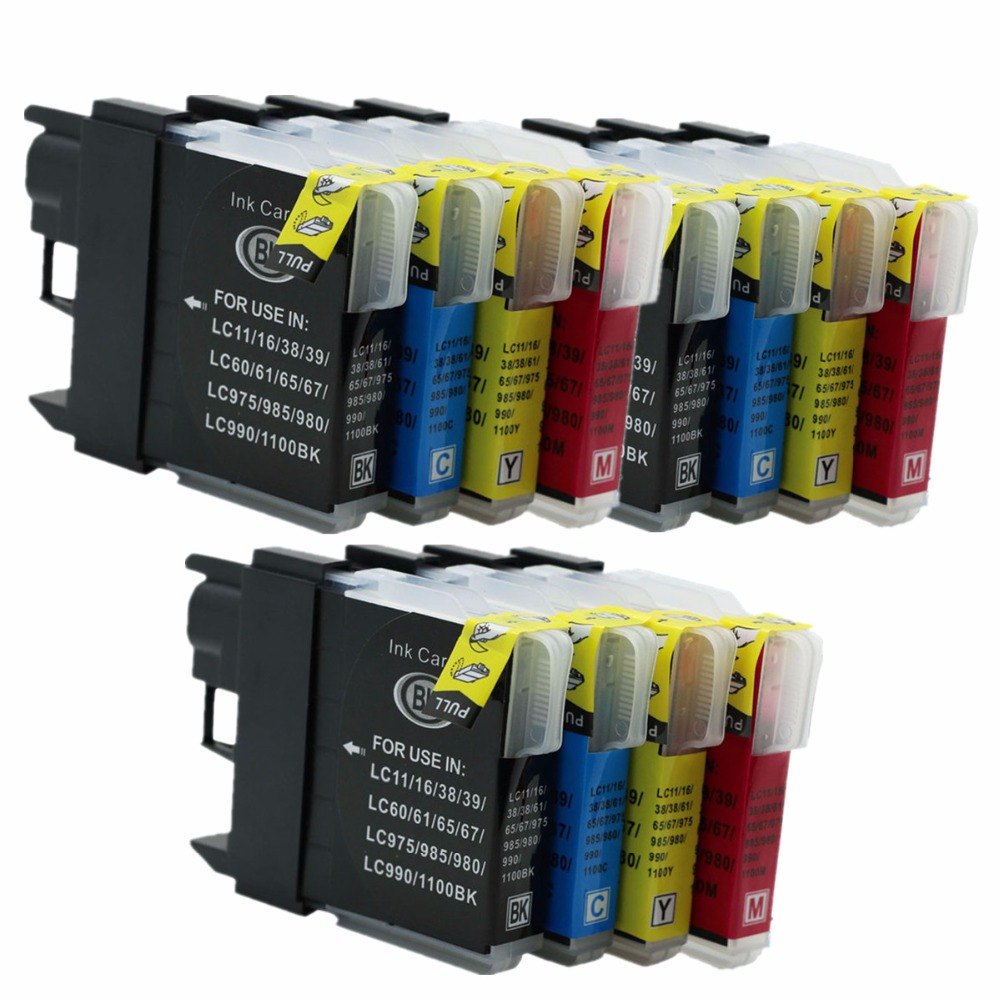 3 Set LC1100 LC 1100 LC-1100 Ink Cartridges For Brother MFC-5490CW MFC-5890CN MFC-6490CN MFC-6490CW MFC-6890CDW MFC-J220 Printer