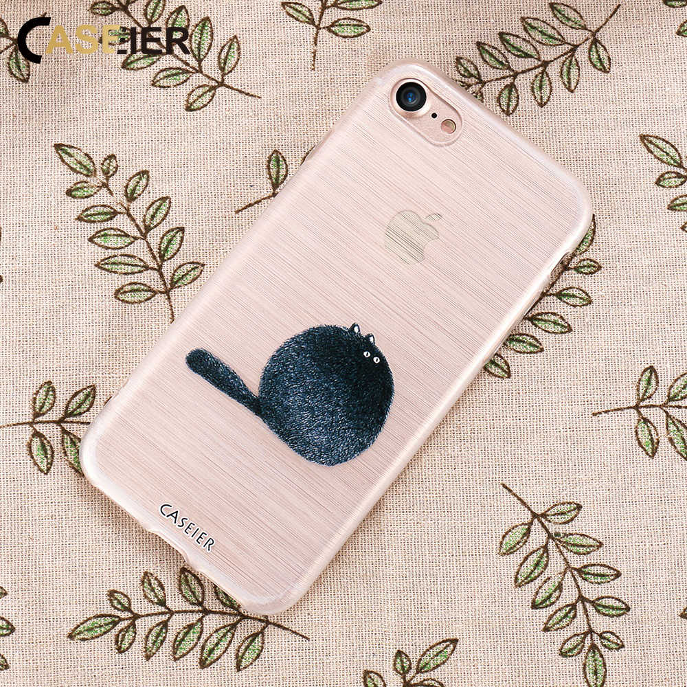 CASEIER Stuffed Animal Relief Case Para iPhone 5 7 8 6 6S Plus 5S SE Macio TPU Casos de Telefone para Samsung Galaxy S7 S7 Borda S6 Covers