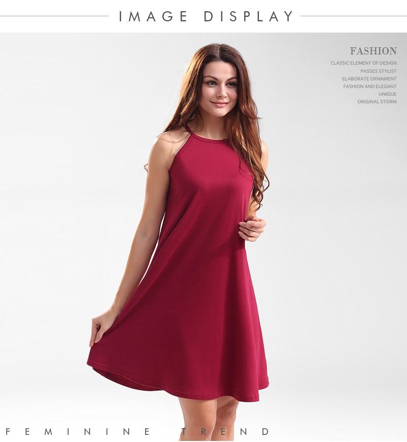 2017 Women Sexy Short Dresses Ladies Slip Dress Halter -5799