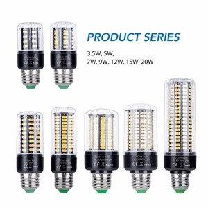 Image 2 - Bombillas Led E14 220 فولت Led لمبة ذرة E27 Led الذكية IC مصباح مصلحة الارصاد الجوية 5736 توفير الطاقة ضوء لمبة 28 40 72 108 132 156 189 المصابيح 110 فولت
