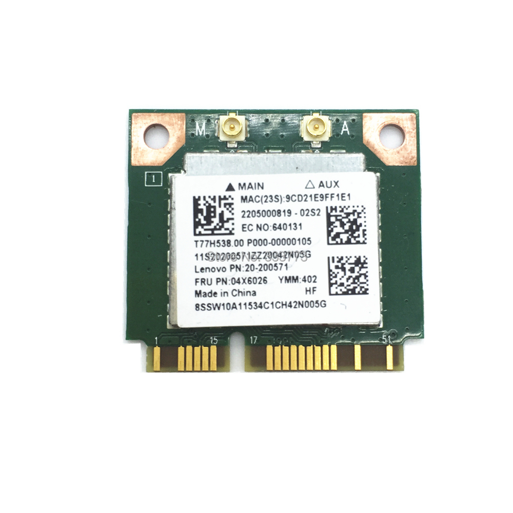 New RTL8821AE 802.11ac 433Mbps WiFi Dual Band Bluetooth 4.0 Card FRU: 04X6026 For Lenovo Laptop