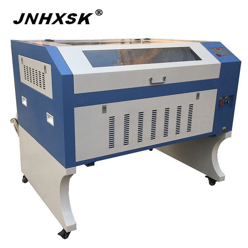 JNHXSK 100W Laser Engraving Machine TS6090 with high quality CO2 laser tube 600mm*900mm
