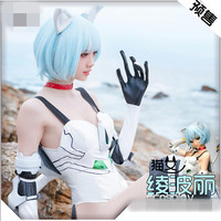 2019 Hot New Anime Neon Genesis Evangelion EVA Ayanami Rei Dress AYANAMI REIREIAYANAMI Cosplay costume Catwoman tail jumpsuits