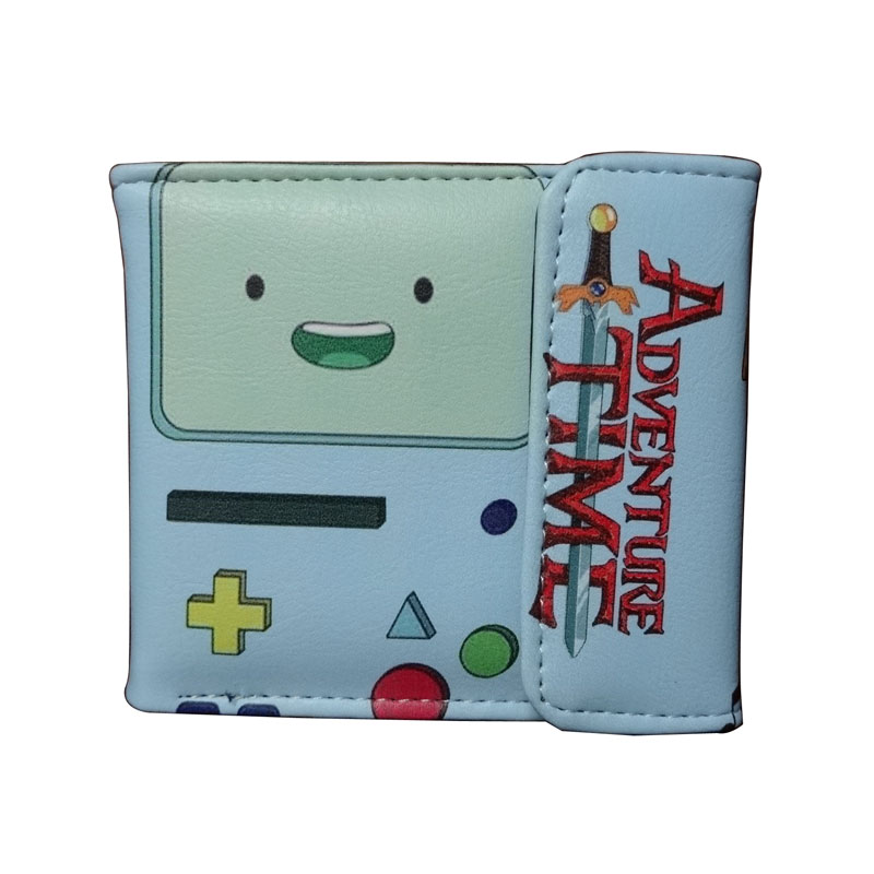 Adventure Time Wallet Men Women Cartoon Games Purse for Kids Card Holder Bag portefeuille femme Fashion Leather Short Wallets cartoon anime wallets red hot chili peppers carteira purse gift teenager card holder bag portefeuille femme leather short wallet