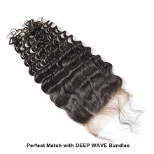 Brazilian hair Lace Closure, 100% virgin hair deep wave, free part middle part closure with baby hair bleached knots