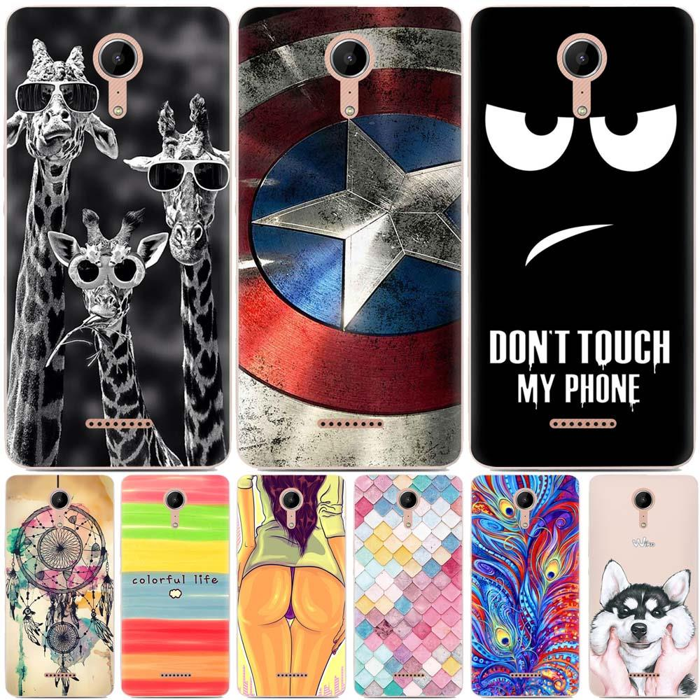 Fundas Wiko Tommy 2 case coque Wiko Tommy 2 plus case silicon soft TPU  Cartoon painted cover for Wiko Tommy 2 Tommy 2 plus cover
