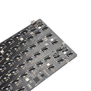 Image 5 - YMDK Hot Swap Fully Programmable 96 Wood Wooden Case Aluminum Plate PCB Stabilizers Support ANSI ISO DIY Kit
