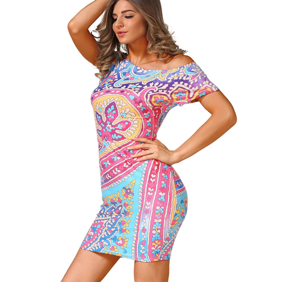 Nuevas mujeres de la moda de verano bodycon dress sexy celebrity club dress vint