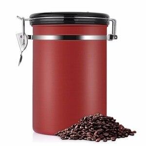Image 4 - Recipiente de feijão café grande hermético aço inoxidável café chá sortage vasilha preto cozinha sotrage para organizador cozinha