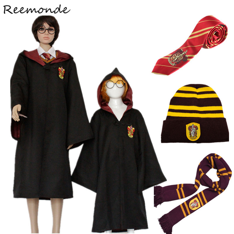 Adult Kids Robes Cloaks Ties Scarfs Hats Cosplay Costumes Gryffindor Ravenclaw Clothes Gloves Slytherin Hermione Scarves Women