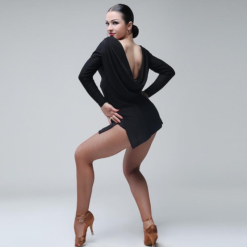 Nero latin dance dress fringe donne vestito latino abiti da ballo Dancewear  dress latina salsa vestito 36dd2e0ac59