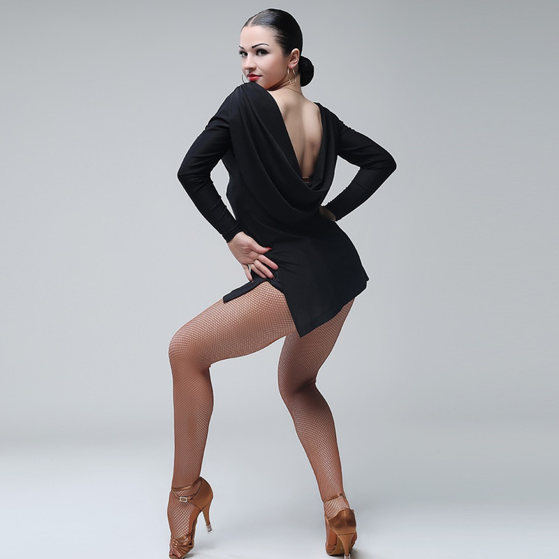 Black Latin Dance Dress Fringe Women Latin Dress Dancing Clothes Dancewear Dress Latina Salsa Dress Modern Dance Costumes