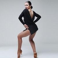 black latin dance dress fringe women latin dress dancing clothes Dancewear dress latina salsa dress modern dance costumes