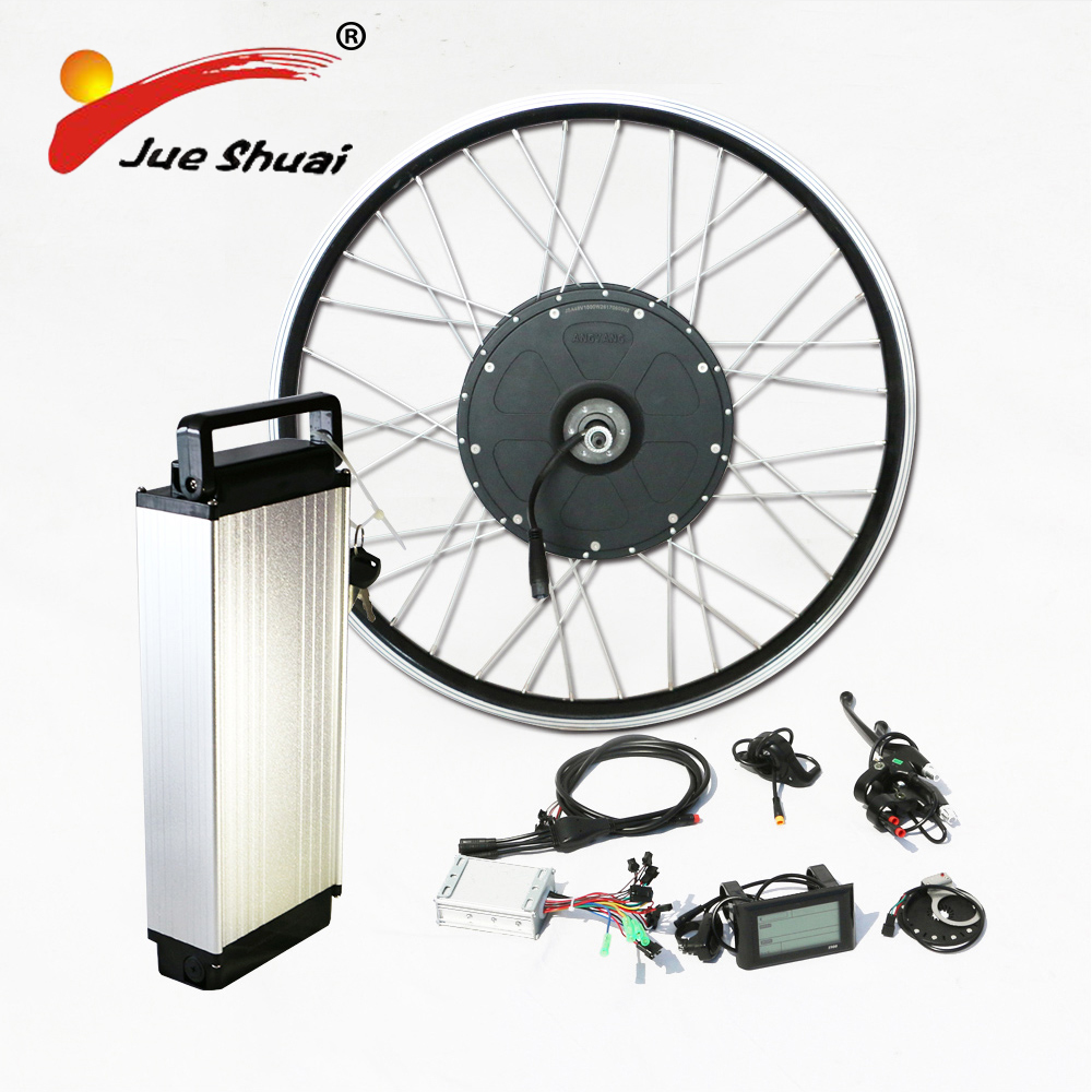 Electric bike kit 1000w brushless motor with 48v rear rack lithium battery ebike conversion kit fix for 26 700c motor wheel 24v 500w electric mountain bike powerful brushless gearless hub motor 26 rear wheel electric bike conversion kit with lcd meter