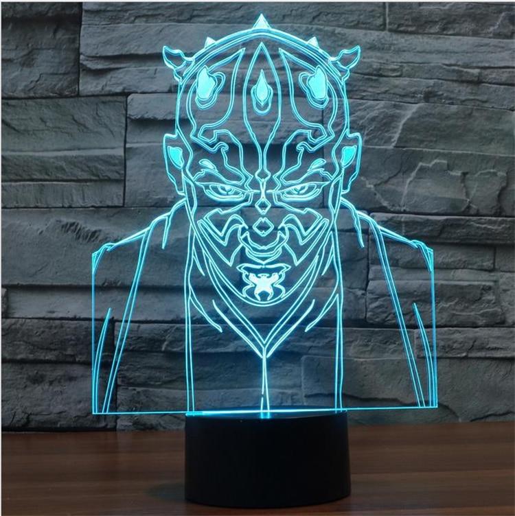 Darth Maul Figure Desk lamp Home Decor USB Touch Sensor Decorative Lamp Child Kids Festival Gift Star Wars LED Night Light Room