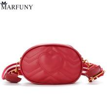 MARFUNY márka derék táska női Pu bőr váll táska széles pántokkal divat szív női táska 2018 táska telefon táska Sac