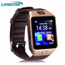 Langtek Populaire Smart Watch DZ09 Avec Caméra Bluetooth Montre-Bracelet Carte SIM Smartwatch Pour Android Téléphone Support Multi Langue