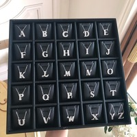 26 letters initial Necklacer alphabet letter Necklace Initials Name Necklaces Pendant for Women Girls Best Birthday Gift