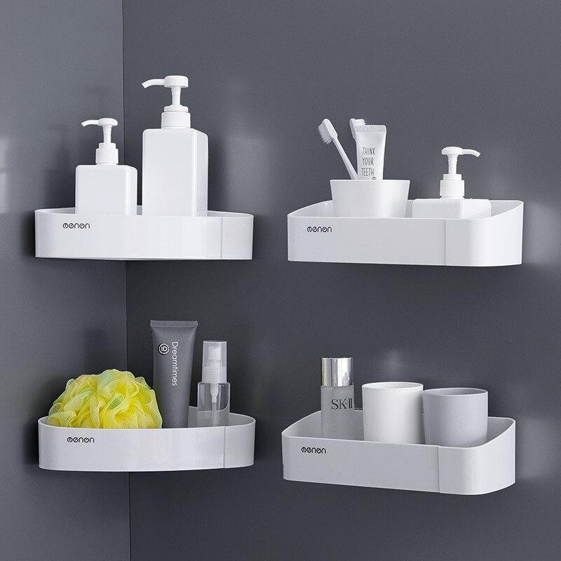 Baffect настенная полка для ванной комнаты, Пластиковая Полка для хранения, органайзер, полки, держатель для слива, стойка для туалетных принадлежностей, макияж