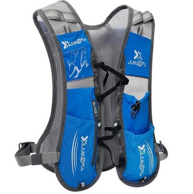 2017 Women Men Lightweight Running Backpack Outdoor Sports Trail Racing Marathon Hiking Hydration Vest Pack 1.5L Water Bag