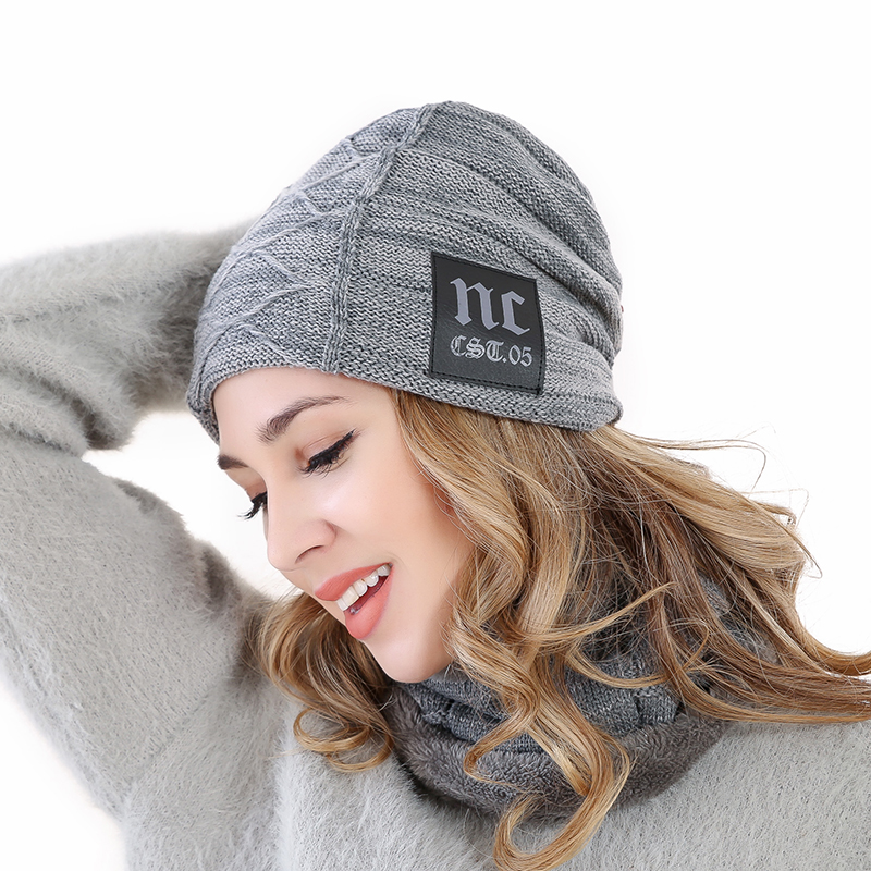 2019 New Winter Hats Neck Warmer Hat NC Label Skullies Beanies Hat Winter Beanies For Men Women Add Fur Lining Warm Knitted Hat in Men 39 s Skullies amp Beanies from Apparel Accessories