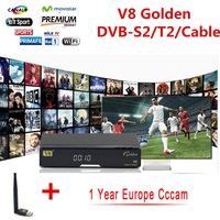 V8 Super DVB S2 T2 Cable Satellite Decoder USB WIFI With A Cccam 1 Yearly CCcam