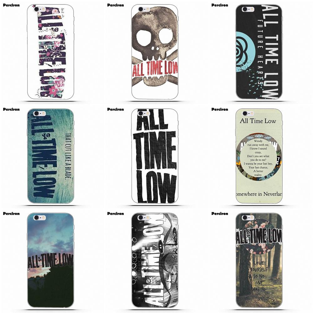 For Xiaomi Redmi Mi Note 7 8 9 SE Pro Lite Go Play TPU Cover Case All Time Low Rock Band Logo image