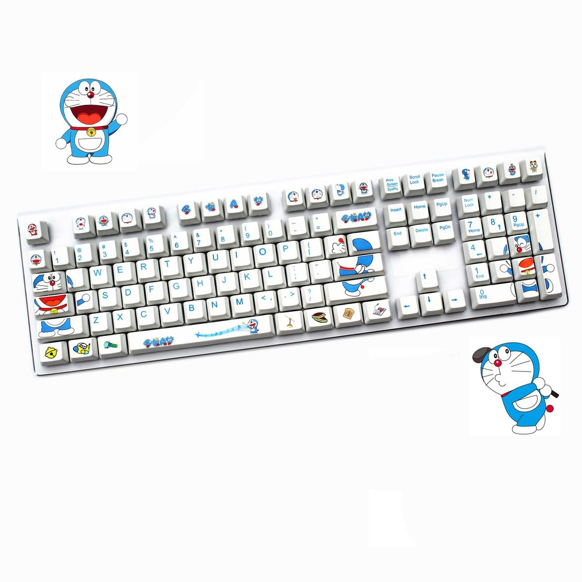 108 Keys/set Dorae-mon key caps Cherry Height ANSI Layout keycap Dye-Sublimation Thickened PBT mechanical keyboard keycaps