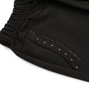 Image 4 - Женские длинные брюки с высокой талией, Зимние Повседневные Леггинсы большого размера